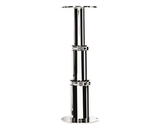 Manual table pedestal in ss